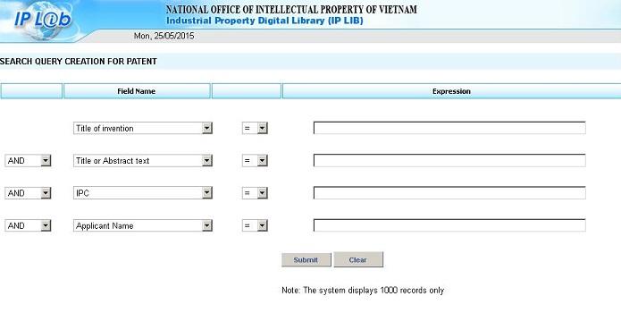 Cách tra cứu nhãn hiệu trên trang thư viện số IPLIB
